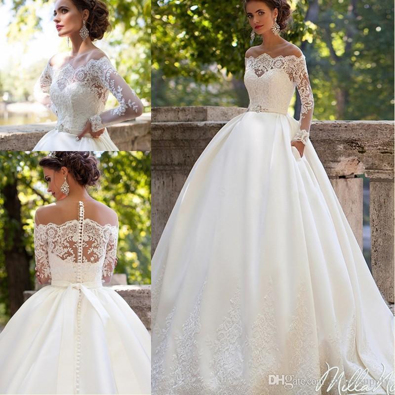 Vestido De Noiva 2017 Vintage Lace Bridal Dress Sexy Long