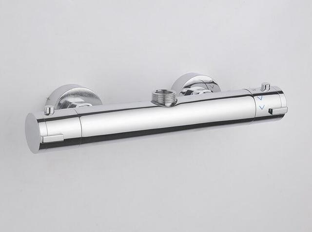Dual Griff Wasserhahn Thermostat Ventil Wandmontage Dusche