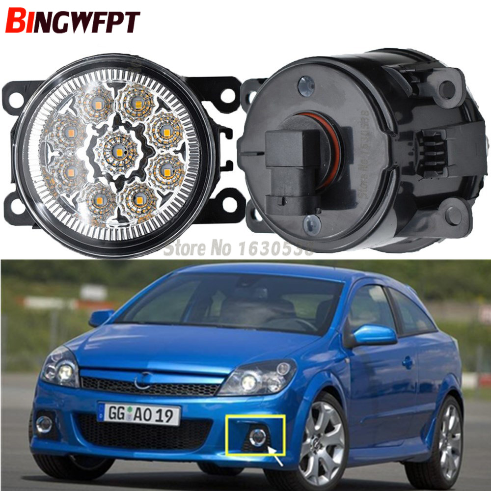 2x High Quality Car Exterior Accessories H11 90MM LED Fog Lamps White Yellow For Opel Vauxhall Astra OPC H 2005-2010