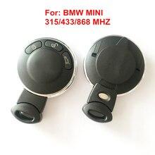 Для BMW Mini Cooper 3 Кнопки 315/315LP/433/868 МГЦ Круглый Дистанционного Smart Key Автозапуск дистанционного Брелок С Uncut Клинок