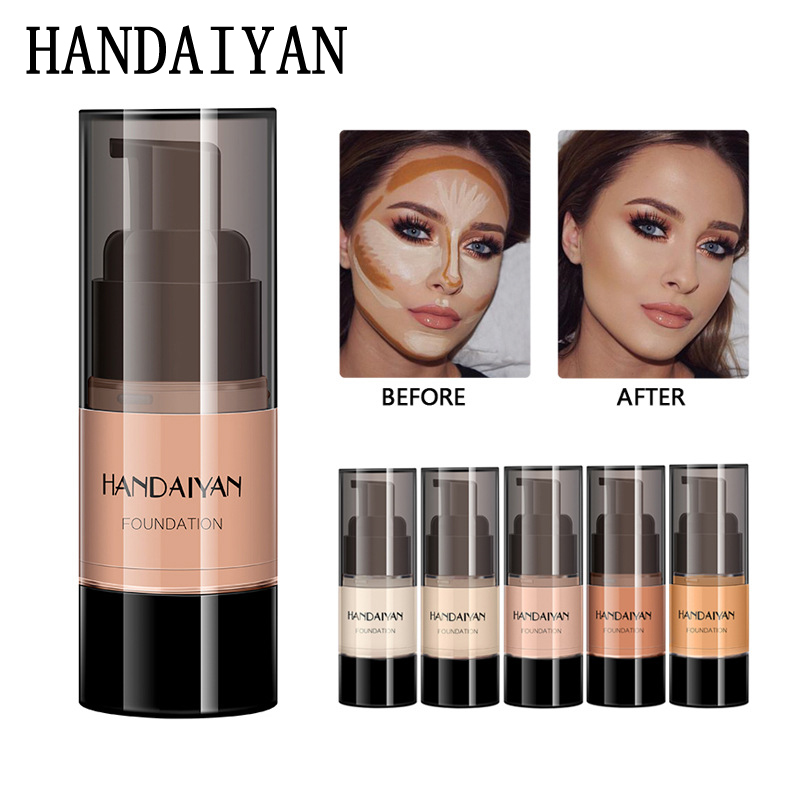 handaiyan full cover foundation waterproof moisturizer fond de teint couvrant face liquid