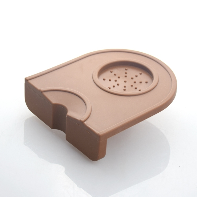 1 PC Espresso Coffee Tamper Silicone Rubber Tampering Corner Mat (without coffee tamper)
