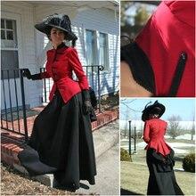 TopSale Steampunk Dress victorian dress Halloween costume US6-26 XS-6XL