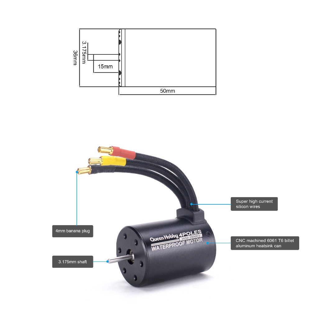Waterproof 3650 3900kv 4300kv Motor 60a Brushless Esc Electric Speed Banana Plug Wiring Diagram Controller 55v 3a Bec Programer Card For 1 10 110 Rc Car In Parts Accessories From