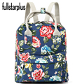 Fullstarplus Women Canvas Backpack floral Female Back Pack High Quality for School Teenagers Girls Vintage Stylish School Bag