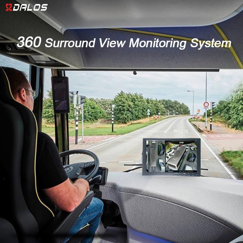 SZDALOS 3D HD 360 Surround vue Système de Surveillance pour Bus, RV, Camping-Car, camion avec HD 1080 p 4-CH DVR Enregistreur
