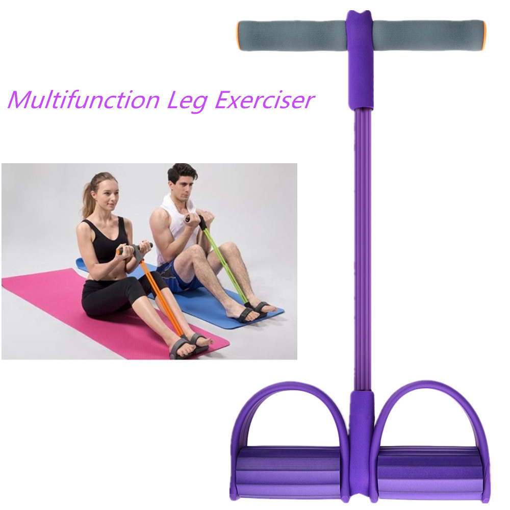 Multifunction Leg Exerciser Sit-up Bodybuilding Expander Pull Rope Resistance Band for Women Home Workout Training Equipment ...