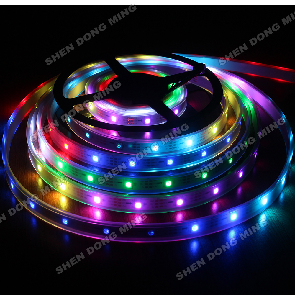 50m 30leds/m 10IC/M led ribbon light Waterproof IP67 White PCB RGB UCS1903 led digital strip For Ceiling Bar Counter Cabinet
