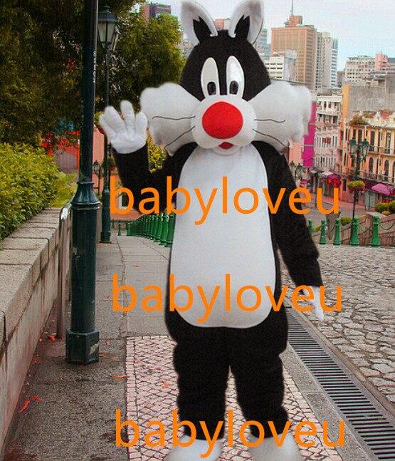 New black cat mascot costume Sylvester cat mascot fursuit complete costume business custom Character carnival costume