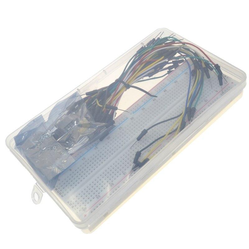 3.3V/5V MB102 Breadboard power module+MB-102 830 points Solderless Prototype Bread board kit +65 Flexible jumper wires3.3V/5V MB102 Breadboard power module+MB-102 830 points Solderless Prototype Bread board kit +65 Flexible jumper wires