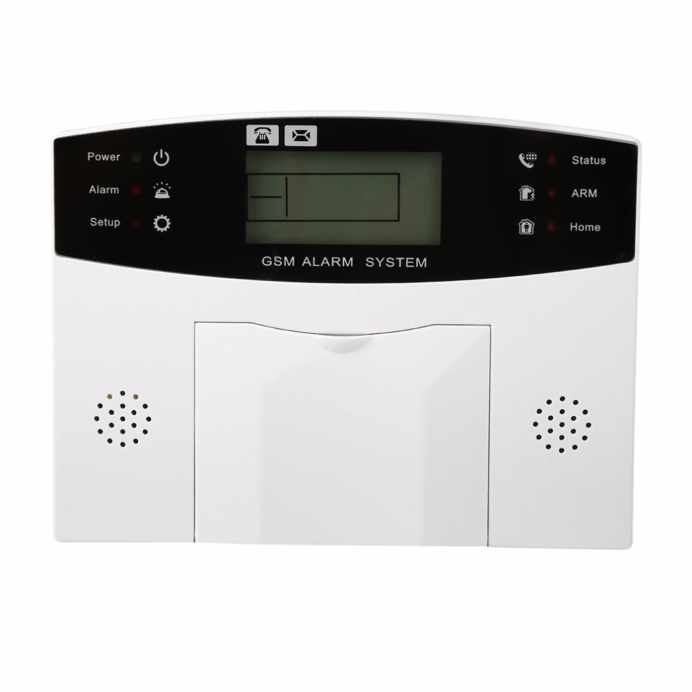 LESHP 433 MHz GSM alarm system Wireless Alarm Clock Digital System PIR Detector Door Sensor Remote Control Home Burglar Security yobang security metal remote control wireless line gsm home safety system lcd display door sensor wire alarm detector pir alarm