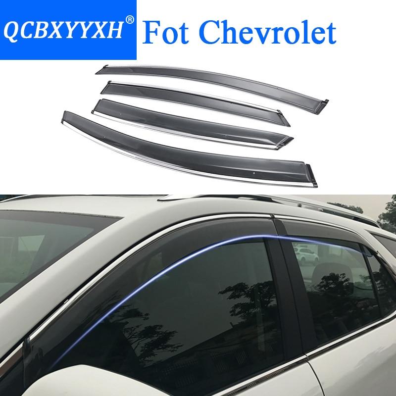 QCBXYYXH Car Styling Awnings Shelters Window Visors rain eyebrow For Chevrolet Cruze Captiva Aveo Epica Malibu Equinox Sail Trax