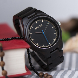 Image 3 - ボボ鳥レロジオ masculino 木製腕時計男性時計クォーツ時計木製のギフトボックス oem ドロップ無料 W O03