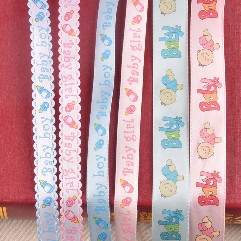 6yard/lot Baby Ribbons Pink/blue Trim Lace Set 1.5/2.5mm Sewing Fabric Decorative Box Packing Bow Craft DIY Accessories C2228(China)