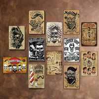 Barber Shop Vintage Tin Sign Metal Plate Decoration Plaque Poster Cafe Bar Store Wall Home Decor