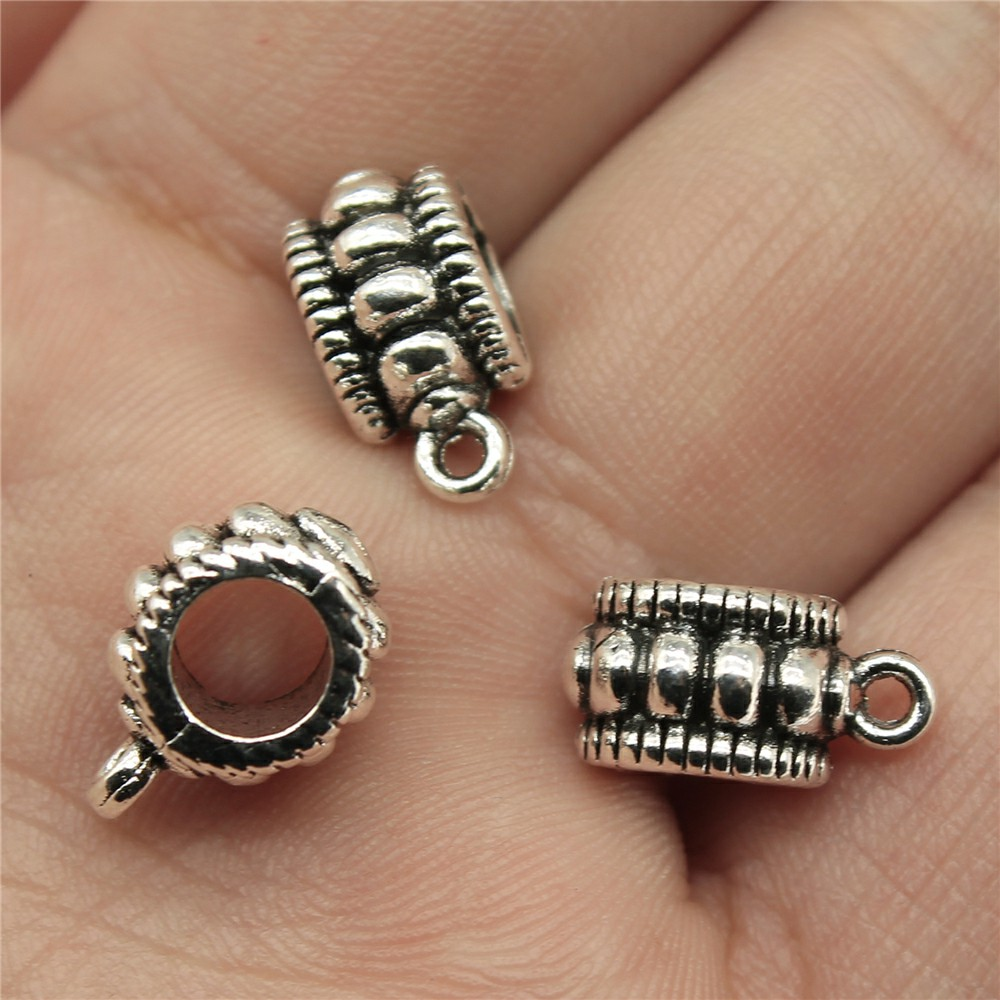 WYSIWYG 12pcs 12*9*6mm Beads Bails Hangers Pendants Charms Findings Jewellery Making Findings for DIY Craft ...