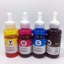 4pcs 70ml Dye ink for Epson L100/L101/L110/L200/L201/L210/L211 Printers T6721-T6724