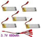 Free Shipping 5pcs/Lots 3.7V 680mAh Lipoly Battery UDI U817 U818A U818 V929 V959 V212 V222 S032G RC Quadcopter