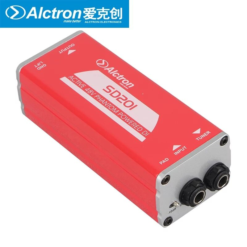 Alctron SD201 Professional DI box for guitar recording and stage performance acoustic and electric guitar