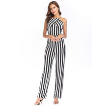 MUXU striped jumpsuit combinaison femme sexy europe and the united states jumpsuits rompers women body backless bodysuit overall цена и фото
