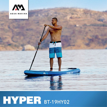 63d5ca7aa AQUA MARINA HYPER surf tablero SUP Surfbaord Stand Up Paddle Junta inflable  Paddle bordo 381 81 15 CM surf golpe deportes