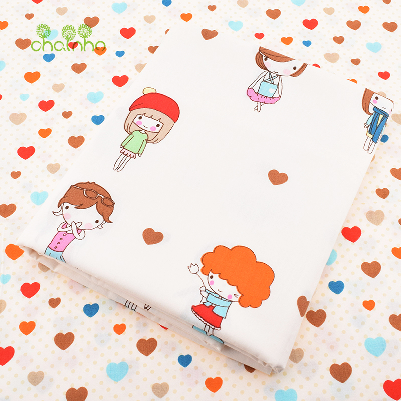Printed Twill Cotton Fabric For Sewing Quilting Cartoon Tissue Baby Bed Sheets Sleepwear Children Dress Skirt Material Baby&Love