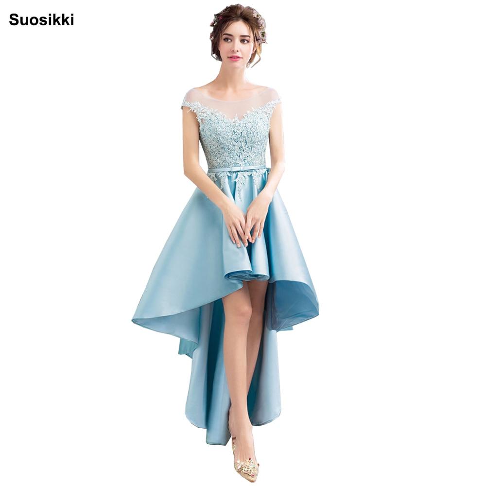 Suosikki/пикантные элегантные вечерние платья с высоким низким голенищем; кружевное платье принцессы; большие размеры; короткое переднее длинн...