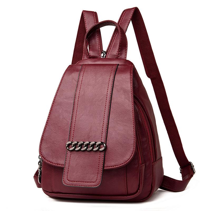 0c7341082ca9 Sac Dos женский рюкзак высокое качество пояса из натуральной кожи рюкзаки  для подростка обувь девочек для
