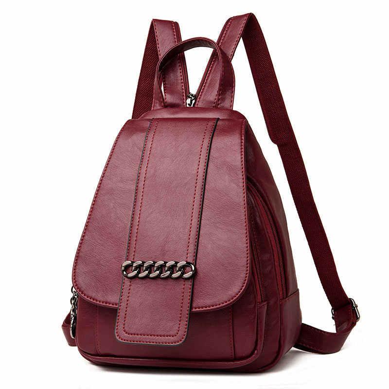 def32b55275b Sac Dos женский рюкзак высокое качество пояса из натуральной кожи рюкзаки  для подростка обувь девочек для