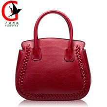 Europe Fashion Women Genuine Leather Bags Litchi pattern Women Handbag Large Shoulder Bags Elegant Women Bags