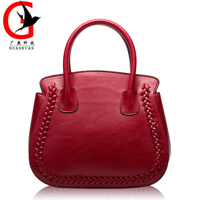 Europe Fashion Women Genuine font b Leather b font Bags Litchi pattern Women font b Handbag
