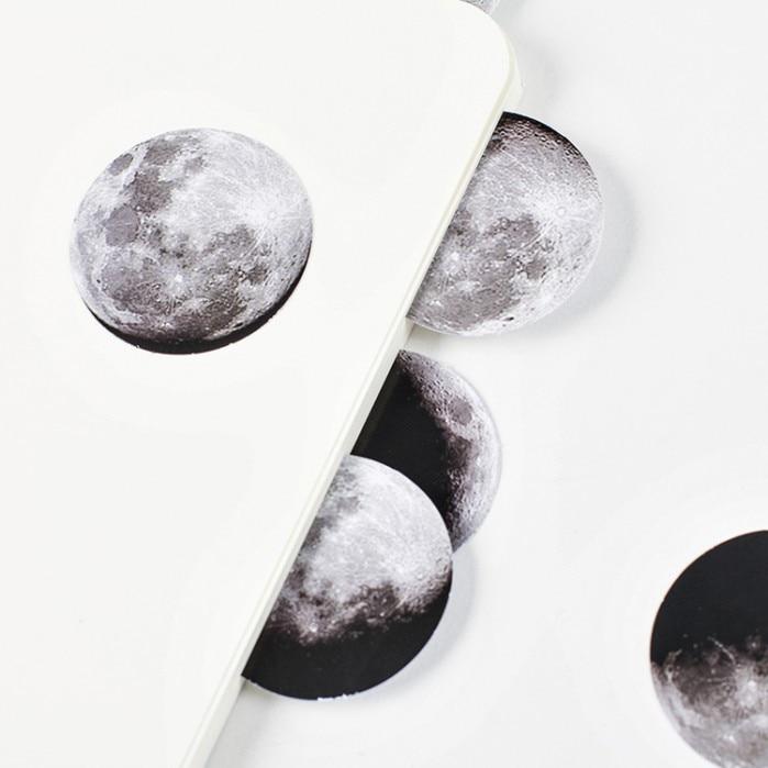 Купить с кэшбэком 45PCS/PACK Kawaii Phase of Moon Month Drawing Marker Planner Book Diary Stationery Stickers Scrapbooking Bullet Journal sl1296