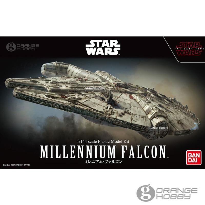 OHS Bandai Star War 1/144 Millennium Falcon TLJ Ver. Assembly Scale Plastic Model Kits