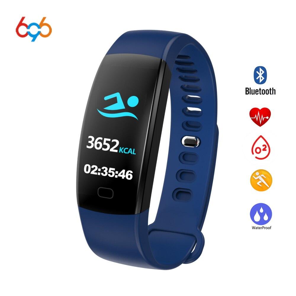 696 F64HR Bluetooth 4,0 Водонепроницаемый Смарт-фитнес трекер Браслет