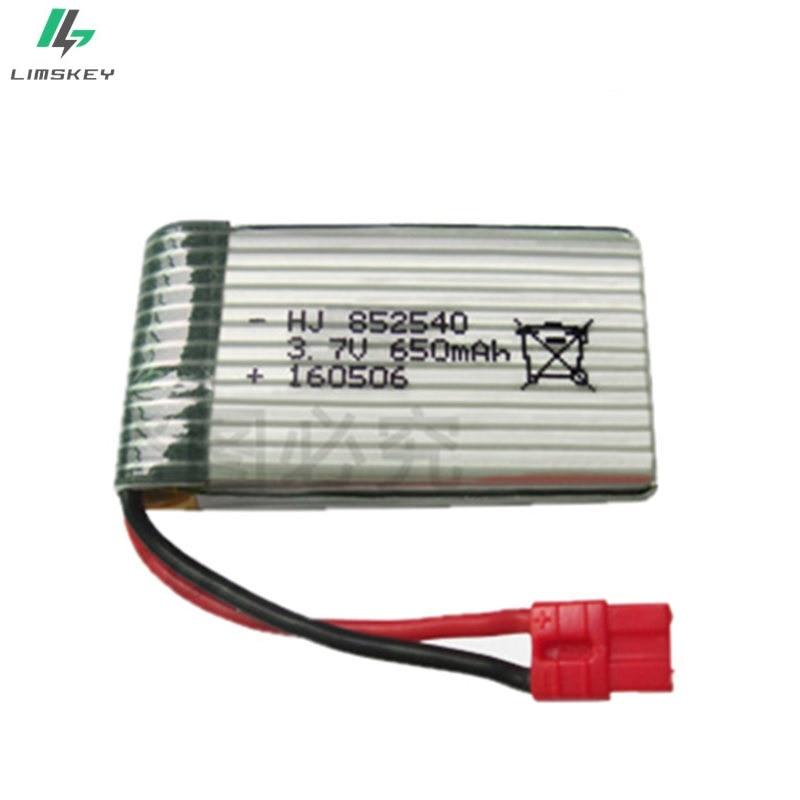 20pcs/lot 3.7V 650mah 852540 Lipo Battery For Syma X5HC X5HW RC Quadcopter Spare Parts 3.7V Battery RC Camera Drone Accessories