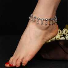 цена на WWLB Fashion Gold Water Droplets Pentagram Star Chain Pendant Multilayer Anklet Set Women Exquisite Clothing Accessories