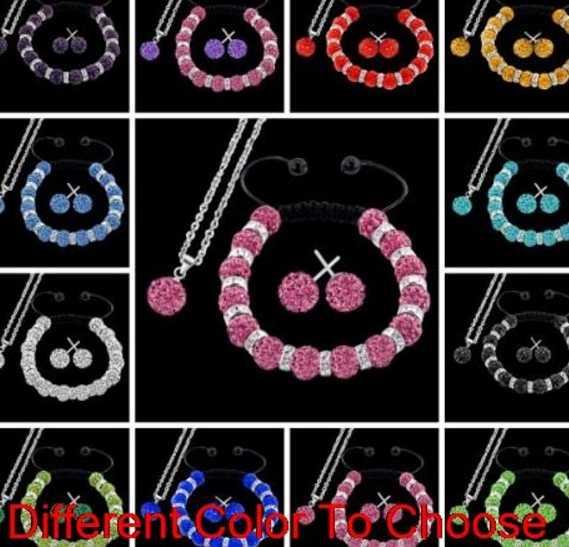10mm 2 teile/los gemischt weiß multicolor Handgemachte perle Kristall set Armbänder ohrringe silber überzogene kette halskette y6442