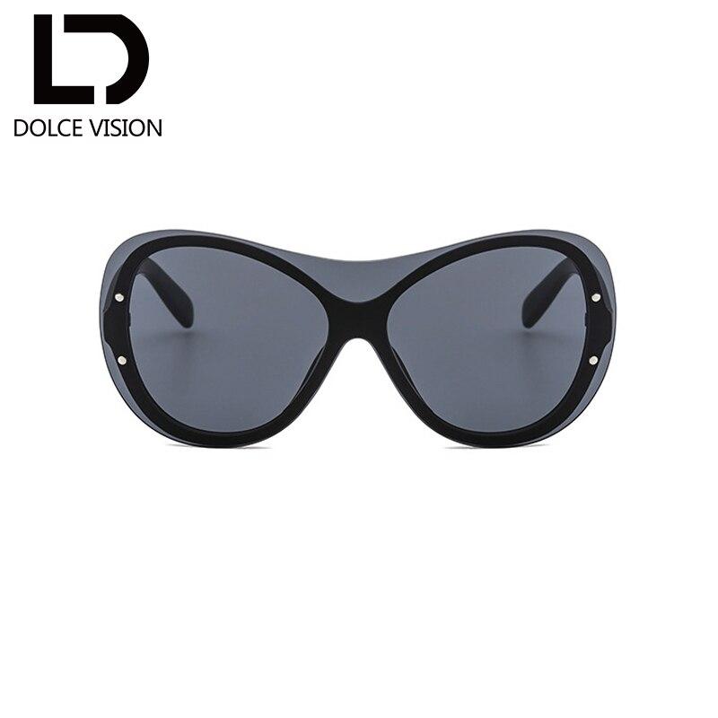 DOLCE VISION Vintage Google Sunglasses Women Mirrored Rimless Shades Ladies Oversize Driver Sunglasses Female Oculos de sol New