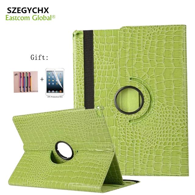 SZEGYCHX Tablet Case Crocodile Pattern Leather Flip Cover Protective For iPad Pro 12.9 inch 360 Rotation Protective Case & gift leather case flip cover for letv leeco le 2 le 2 pro black