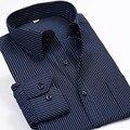 Новый 2017 Весна Мужчины Полосатые Рубашки С Длинным Рукавом Мода бренд Classic Fit Мужчины Повседневная Бизнес Рубашки Плюс Размер 5XL 6XL