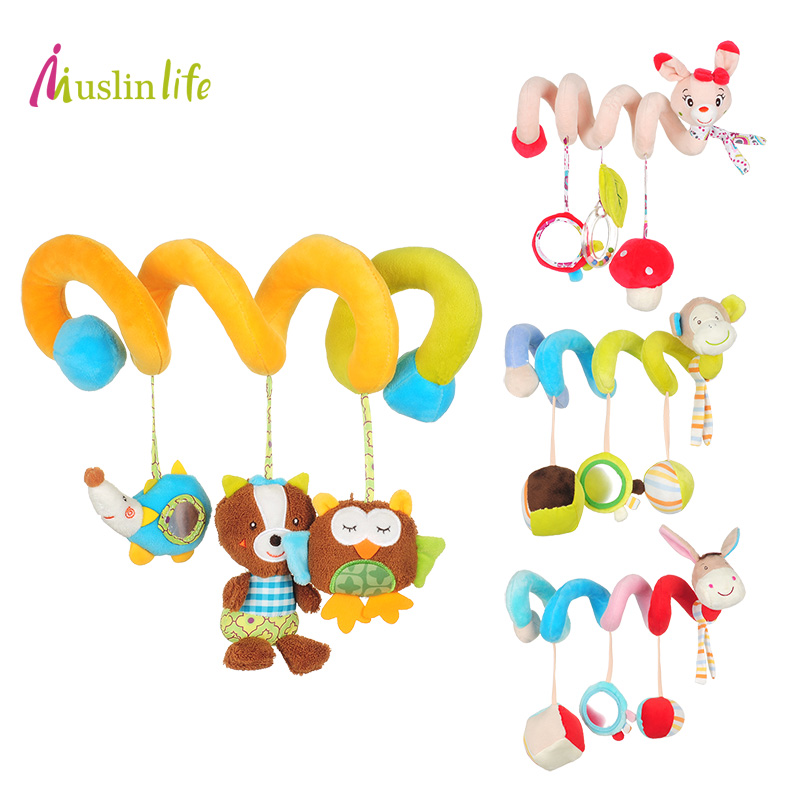 Baby Toys Cute Musical Cartoon Baby Crib Revolves,Multifunctional Crib Hanging Bed Bell Educational Toys Rattles for Kids baby bed bell toy musical crib mobile rotating rattles baby hanging toys 0 12 months