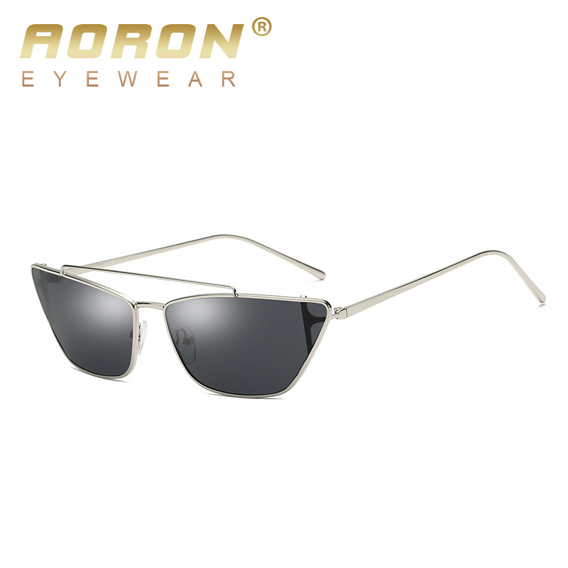 AORON 2019 Metal Frame Small Cat Eye Sunglasses Women New Brand Designer Retro  Sun Glasses Ladies UV400 Eyewear