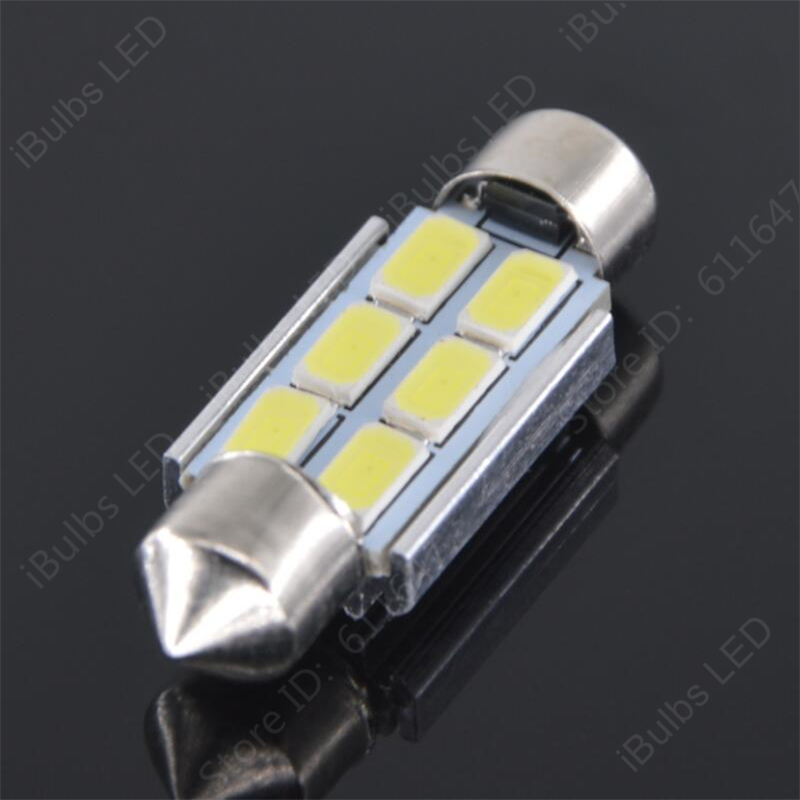 4Pcs Festoon Canbus Error Free 31mm 36mm 39mm 41mm C5W 6 Leds 5630 SMD Car Interior Reading Boot Lights No Electrode carprie super drop ship new 2 x canbus error free white t10 5 smd 5050 w5w 194 16 interior led bulbs mar713