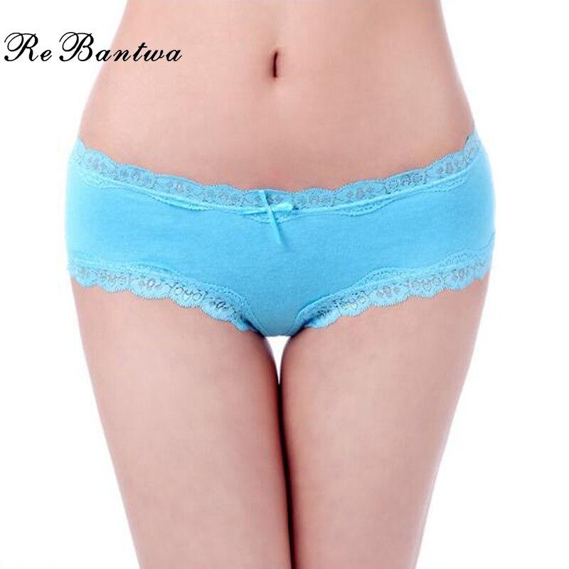 Buy Rebantwa Brand Lot 5 pcs Woman Panties Underwear Femme Cotton Cute Lace Briefs Ladies Knickers Intimates Lingerie Women