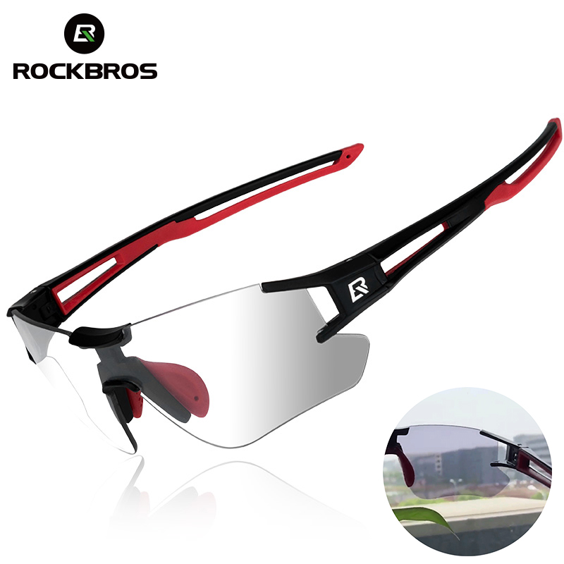 ROCKBROS Photochromic Cycling Glasses Bike Bicycle Glasses Sports Men's Sunglasses MTB Road Cycling Eyewear Protection Goggles(China)