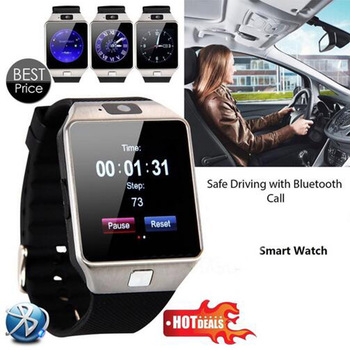 20 Pcs/lot Bluetooth Smart Watch Smartwatch DZ09 Android Phone Call Relogio 2G GSM SIM TF Card Camera for iPhone Samsung GT08 A1