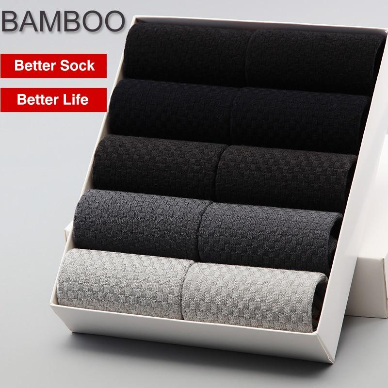 2018 Erkekler Bambu Çorap BENDU Marka Garantisi Anti-Bakteriyel Rahat Deodorantı Nefes Iş Adamı Çorap (10 Çift / grup)