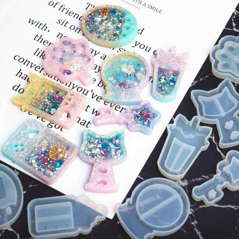 Mesin Tolol Shaker Cetakan Silikon Botol Susu Epoxy Resin Permainan Shaker Pesona Tongkat Sihir Diy Perhiasan Kerajinan Alat Minyak Jarum Suntik