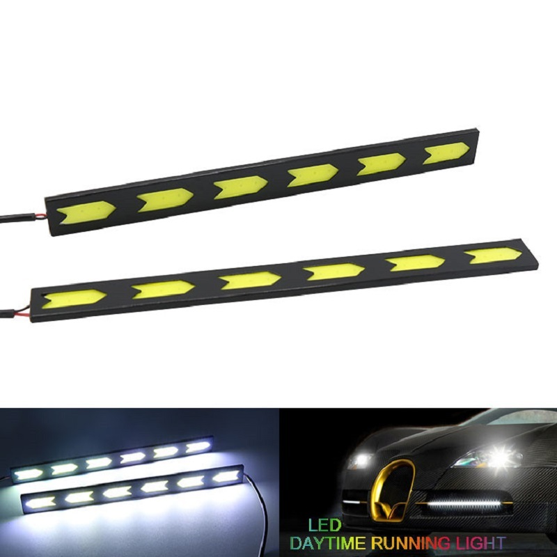 Car Decoration Exterior DRL COB LED Fog Lamp Daytime Running Light DC 12V