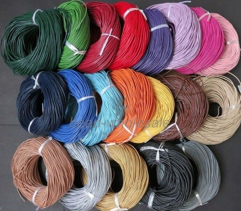 32.8 Feet Round Real Leather Jewelry Cord 3mm